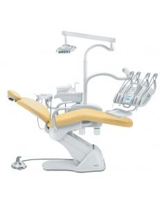 Стоматологическая установка Синкрус Элит 4, верхняя подача, пистолет, 1 шланг с подсветкой, 2 шланга без подсветки, 2 подлокотника