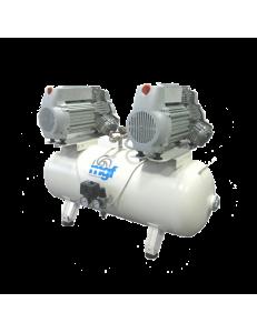 100/50 TANDEM PRIME S - безмасляный компрессор без осушителя, 100 л, 500 л/мин