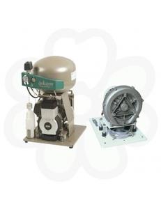 DUO - безмасляный компрессор, с вакуумной помпой, в корпусе