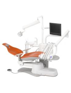 Стоматологическая установка A-DEC 300 верхняя подача, подголовник стандартный, пистолет, 3 силиконовых шланга без оптики, 1 свободное гнездо