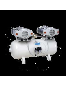 100/30 TANDEM PRIME S - безмасляный компрессор без осушителя, 100 л, 340 л/мин
