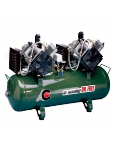 Cattani 100-320 - безмасляный компрессор, c осушителем, без кожуха, 320 л/мин, ресивер 100 л