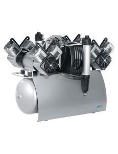 QUATTRO - одноагрегатный четырехцилиндровый безмасляный компрессор с осушителем (230 л/мин)